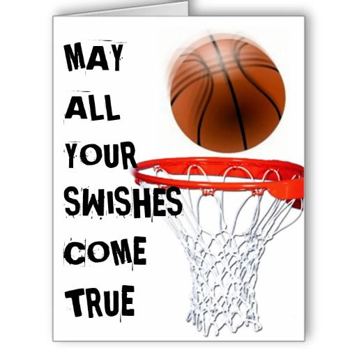 Basketball Player Birthday Greeting Card Basketball Birthday