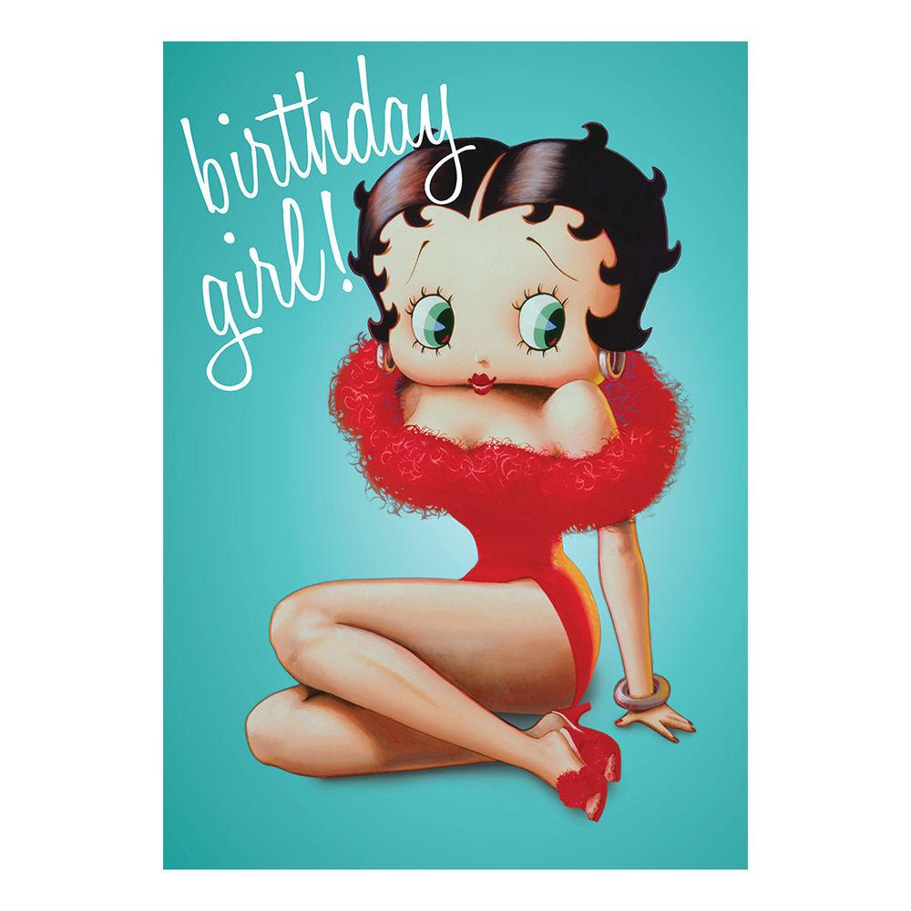 BETTY BOOP BIRTHDAY GIRL GREETING CARD GIFT BLANK RETRO