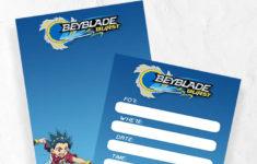 Beyblade Birthday Card Printable