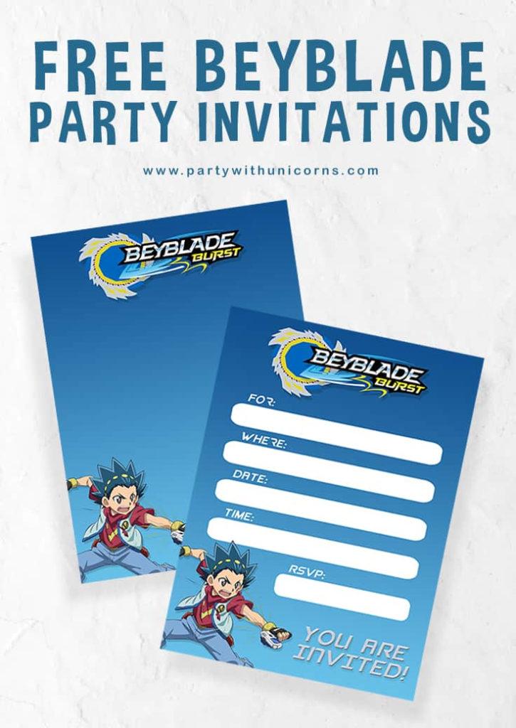 Beyblade Birthday Invitations