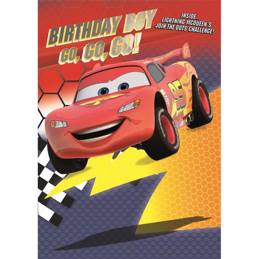 Birthday Boy Disney Cars Activity Birthday Card 25455587