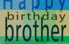 Printable Birthday Cards For Brother