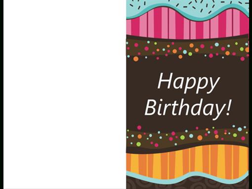 Birthday Card Dots And Stripes kids Half fold