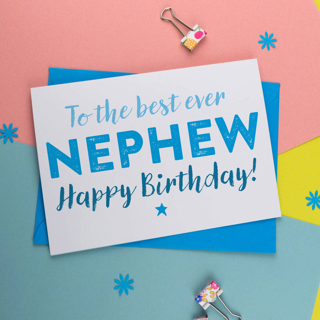 Birthday Card For Nephew By A Is For Alphabet