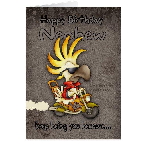 Birthday Card Nephew Birthday Card Cockatoo Bi Zazzle