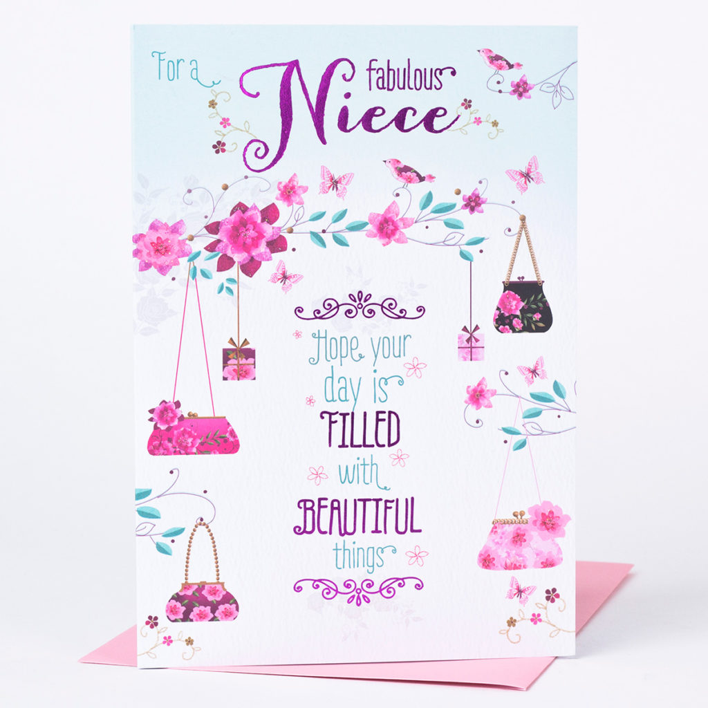 Birthday Card Niece Beautiful Things Only 89p