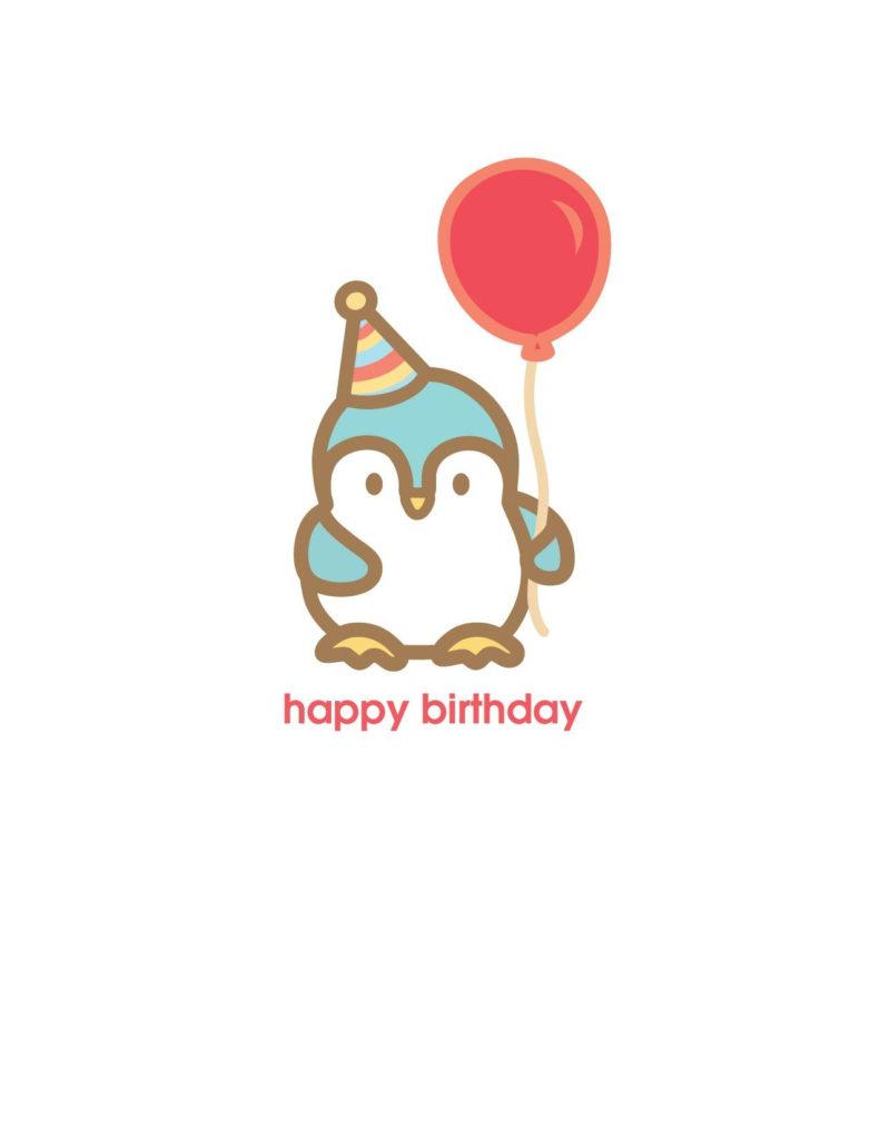 Birthday Card Penguin Pinguinos Enamorados Cumplea os