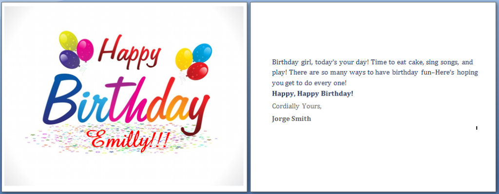 Birthday Card Template Word Emmamcintyrephotography