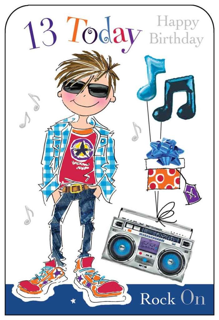 Birthday Cards For Boy 13 Amazon co uk
