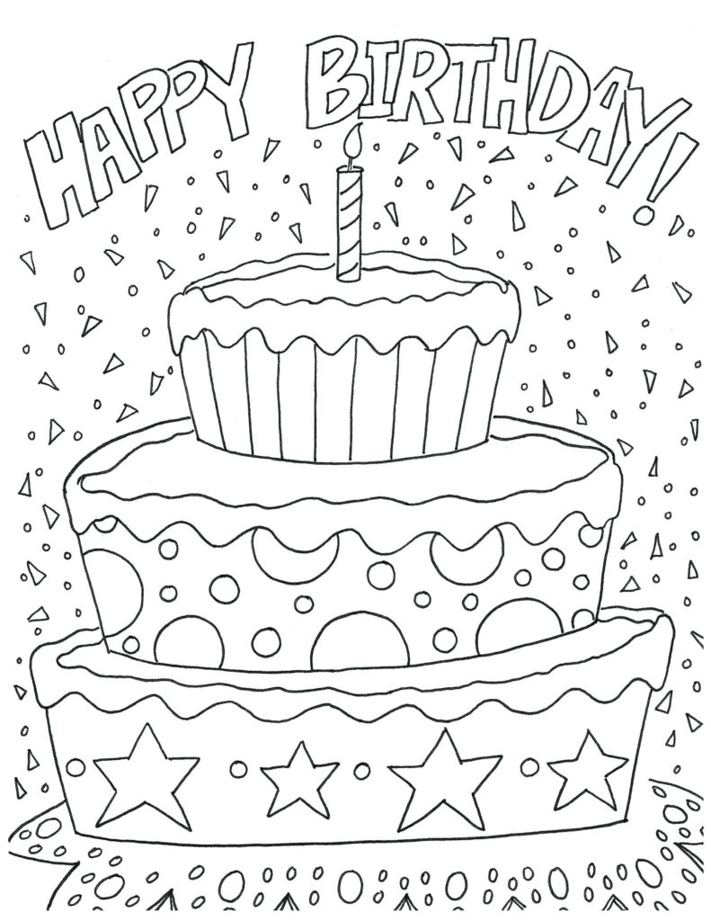 Birthday Coloring Pages For Adults At GetColorings