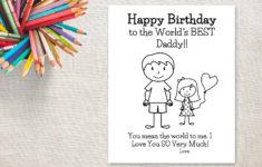 Printable Birthday Cards Daddy