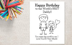 Birthday Cards For Dad From Daughter Printable