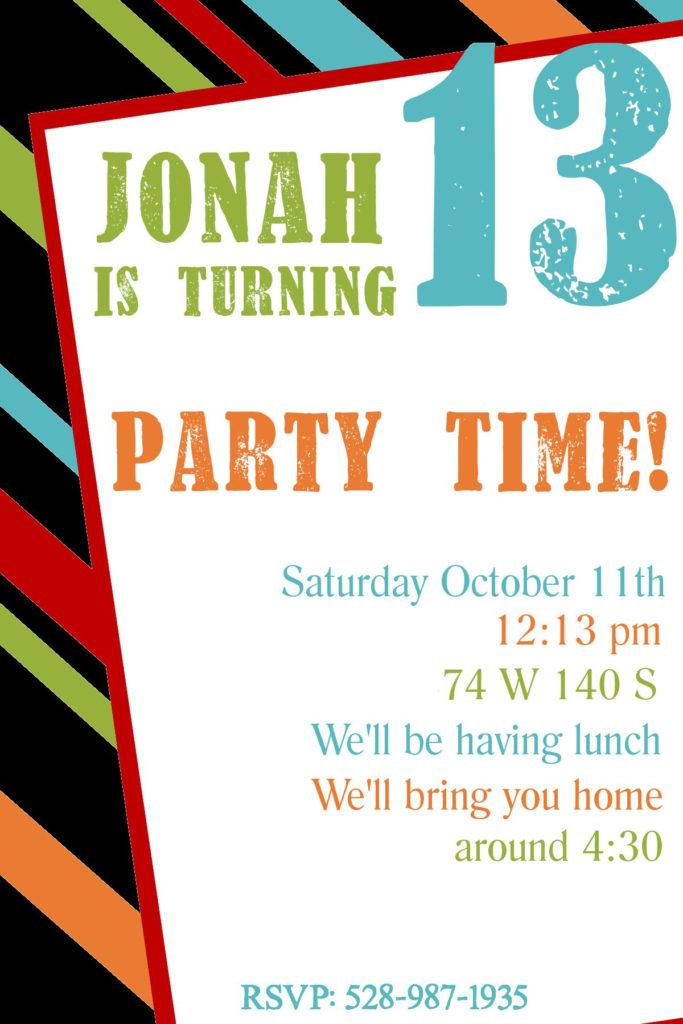 Birthday Invitation Birthday Invitation Card Template