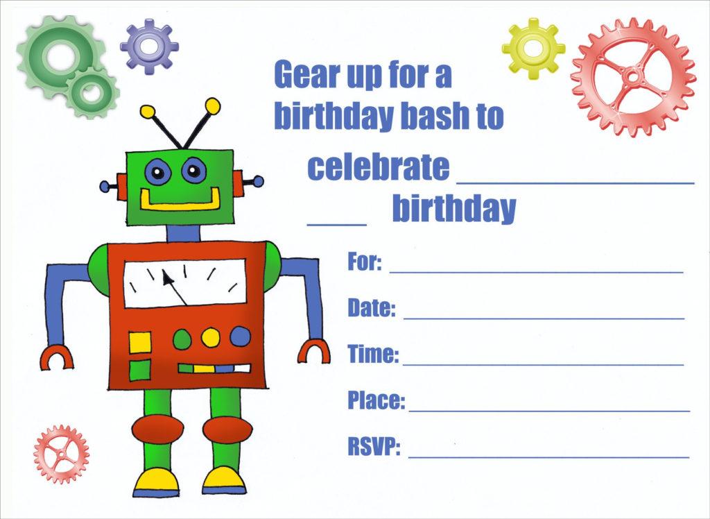 Birthday Invitation Card Printable Birthday Invitations