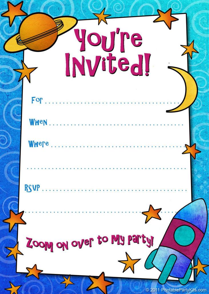 Birthday Invitation Card Template Kids Birthday