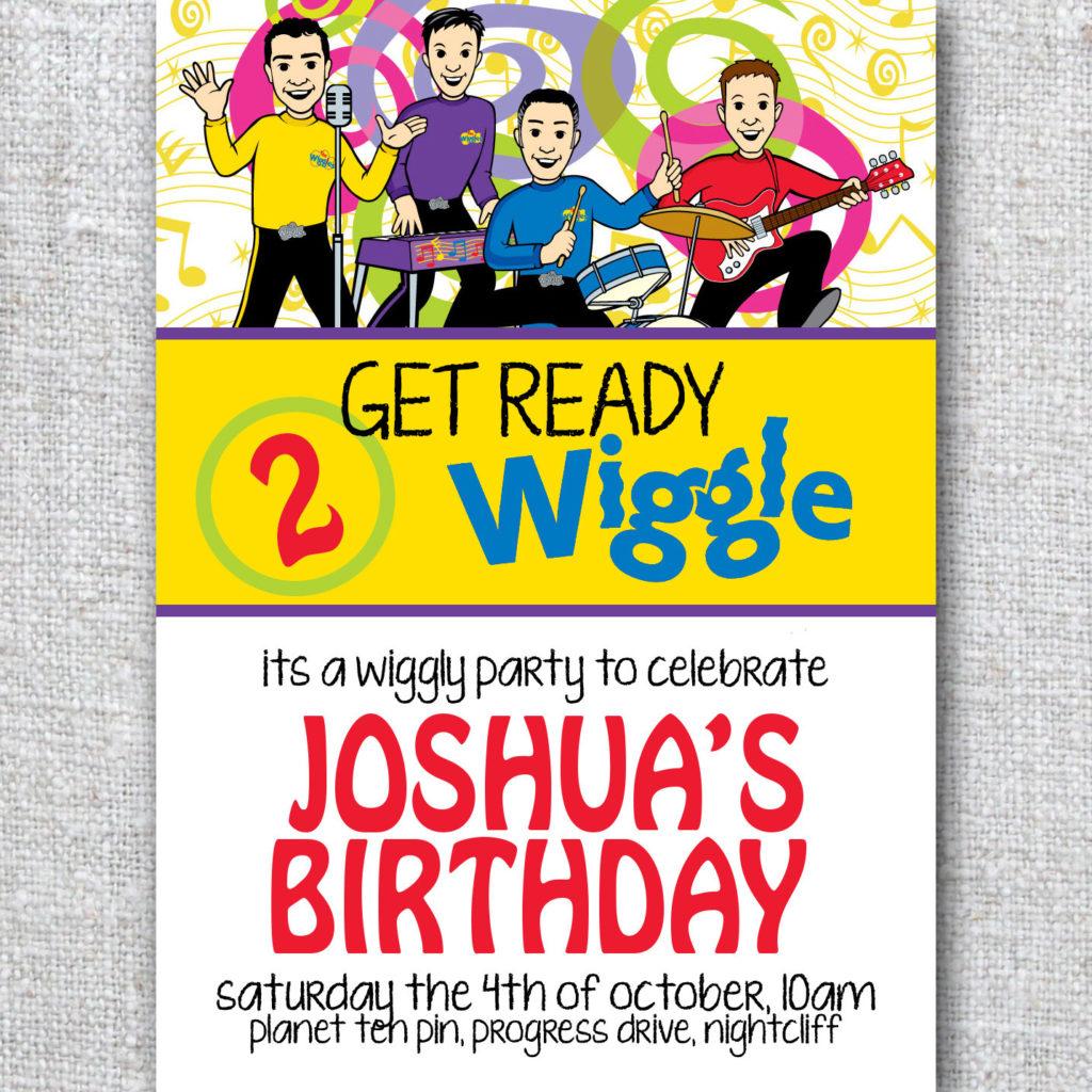 Birthday Invitation WIGGLES Modern By Theprintablecafe On Etsy