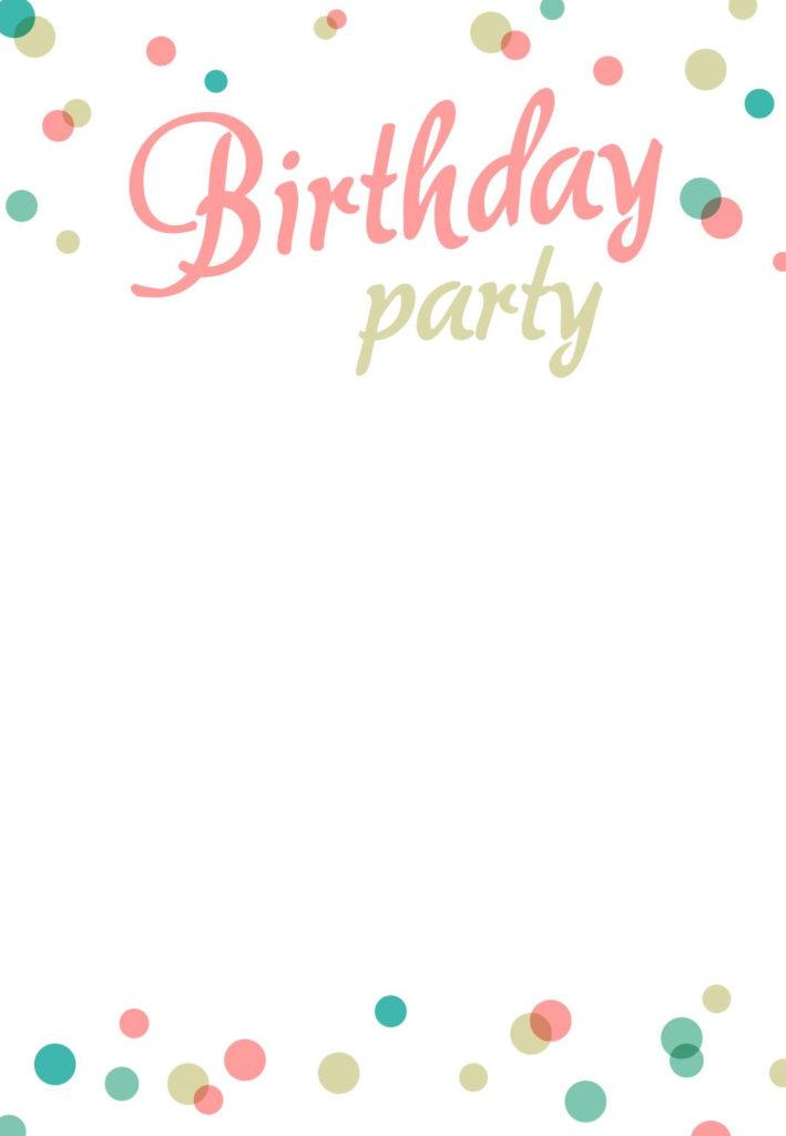 Birthday Party Invitation Free Printable Birthday