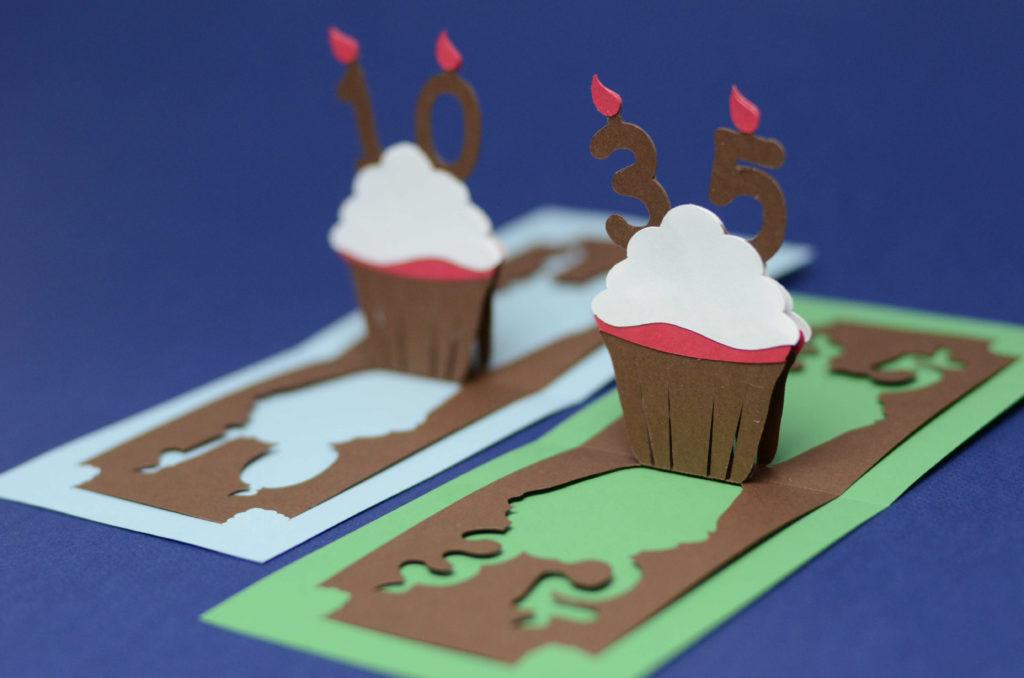Birthday Pop Up Card Detailed Cupcake Creative Pop Up Cards