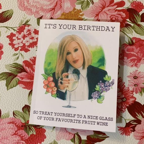 BIRTHDAY Schitty Parody Moira Wine Greeting Card In 2020