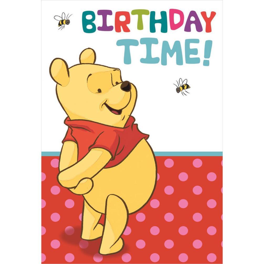 Birthday Time Disney Winnie The Pooh Birthday Card