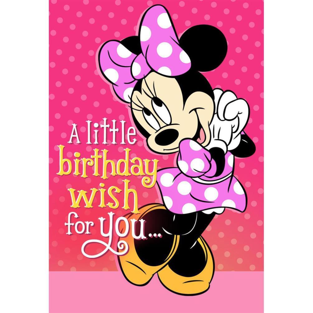 Birthday Wish Disney Minnie Mouse Birthday Card 25470196