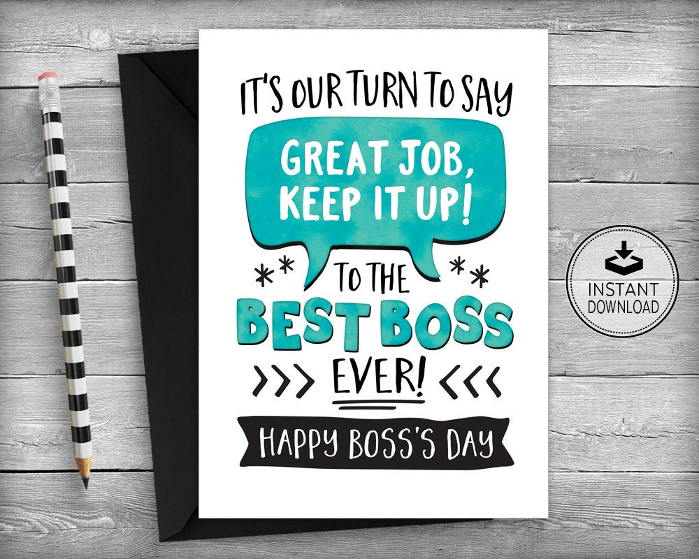 Boss s Day Card Boss Day Card Boss Appreciation By
