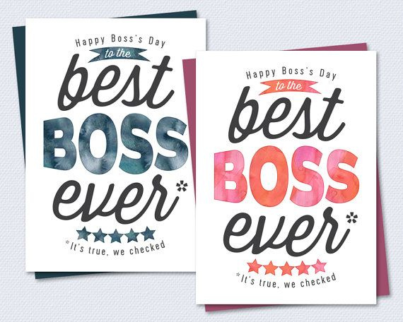 Boss s Day Card Thanks For Being The Best Boss Ever