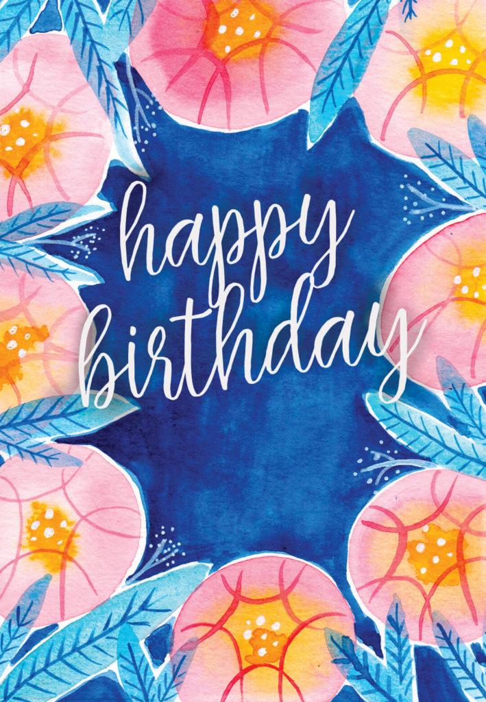 Botanical Birthday Card free Greetings Island