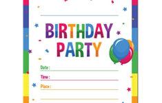 Printable Birthday Invitations For 8 Year Old Boy