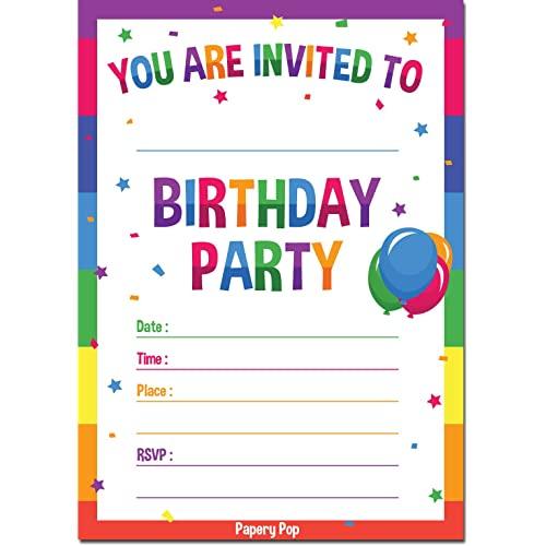 Boy Birthday Invitations Amazon