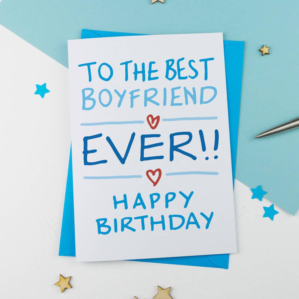 Boyfriend Birthday Card By A Is For Alphabet