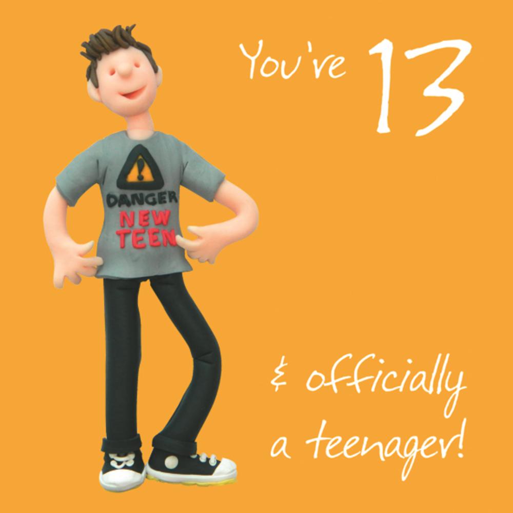 Boys 13th Birthday Greeting Card Cards
