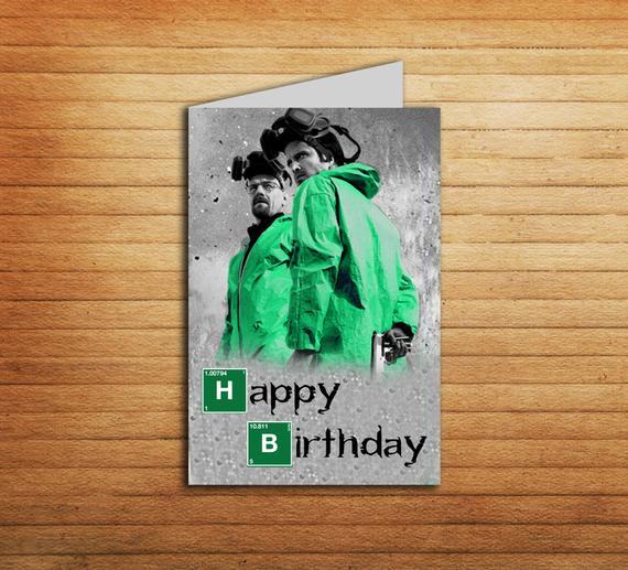 Breaking Bad Birthday Card Printable Heisenberg By