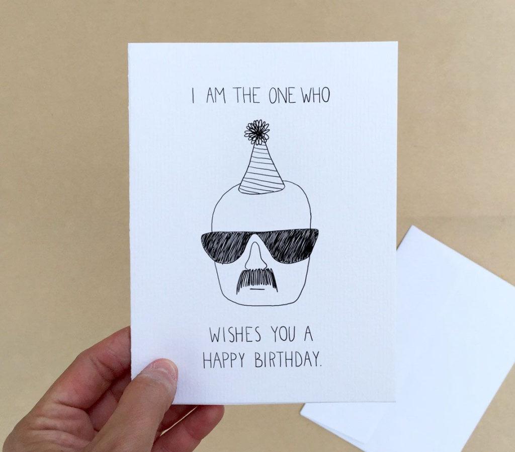 Breaking Birthday 4 X 6 Breaking Bad Birthday Card By