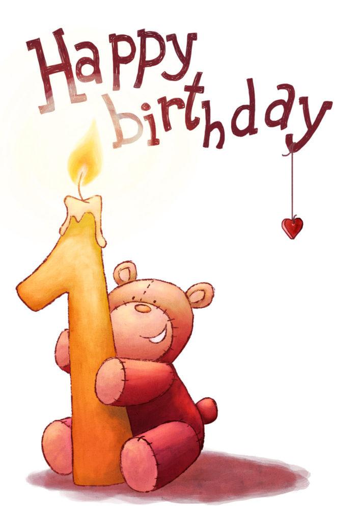 Brown Teddy Bear Birthday Card Greetings Island