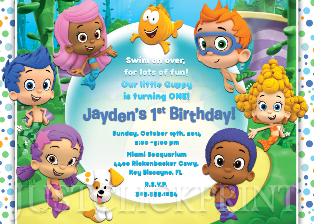 Bubble Guppies Birthday Invitation Printable Boy Girl