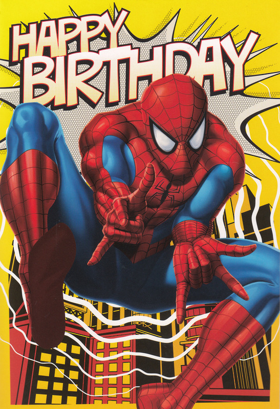 Buy Marvel Spiderman Interactive Birthday Card At Mighty
