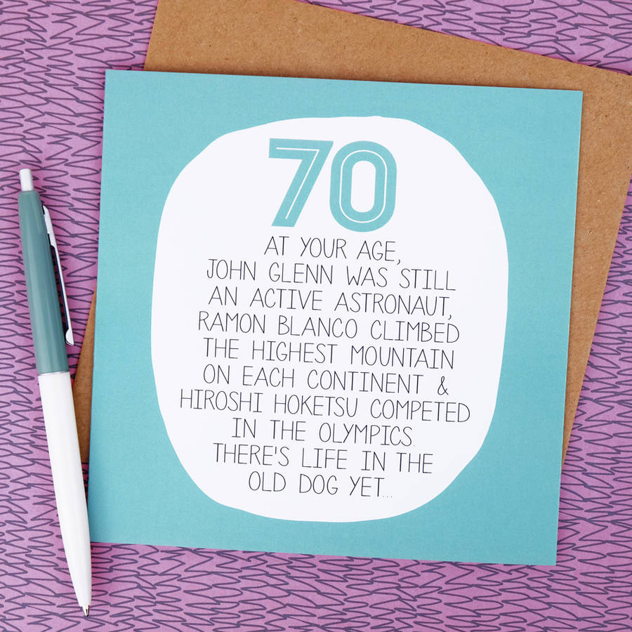 By Your Age Funny 70th Birthday Card By Paper Plane