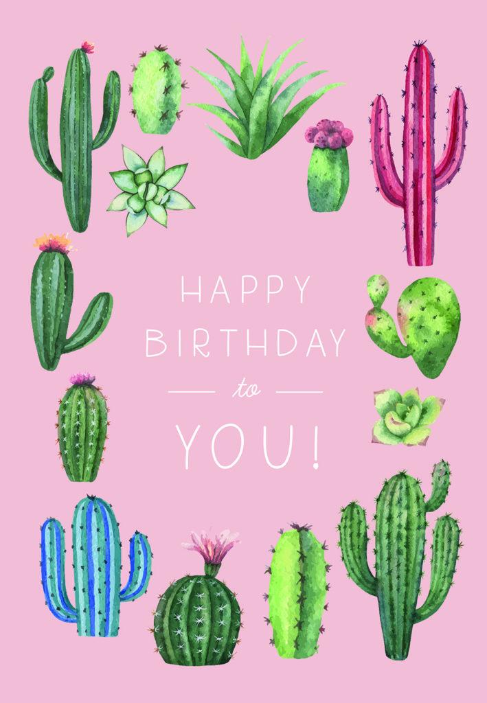 Cactus Birthday Birthday Card free Greetings Island
