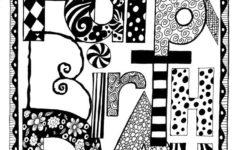 Black And White Printable Birthday Cards Free