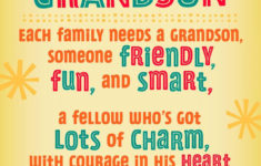 Printable Birthday Cards Grandson