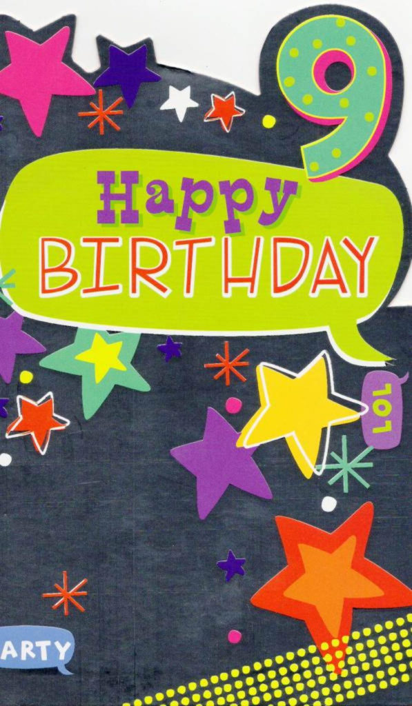 Childrens Happy 9th Birthday Greeting Card Cards Love