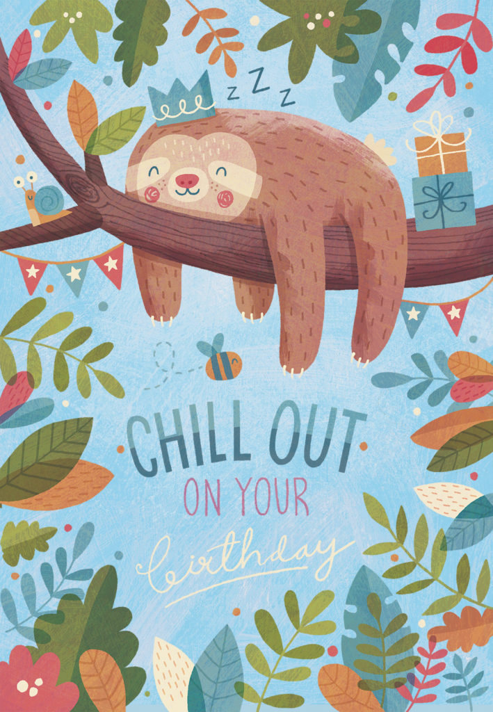 Chill Out Birthday Birthday Card Greetings Island