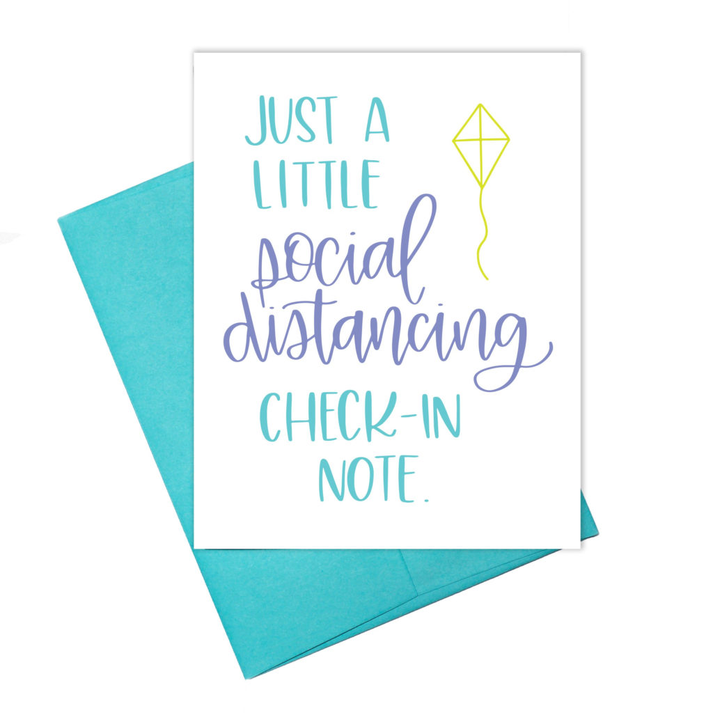 Coronavirus COVID19 Social Distancing Check In Card
