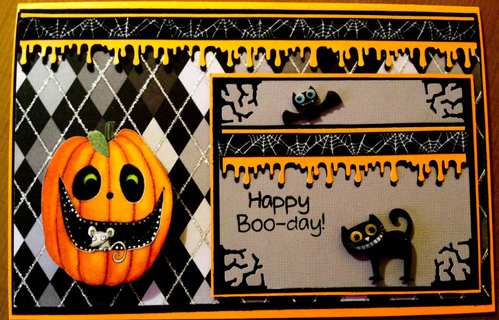 Country Lady Designs A Halloween Birthday Card