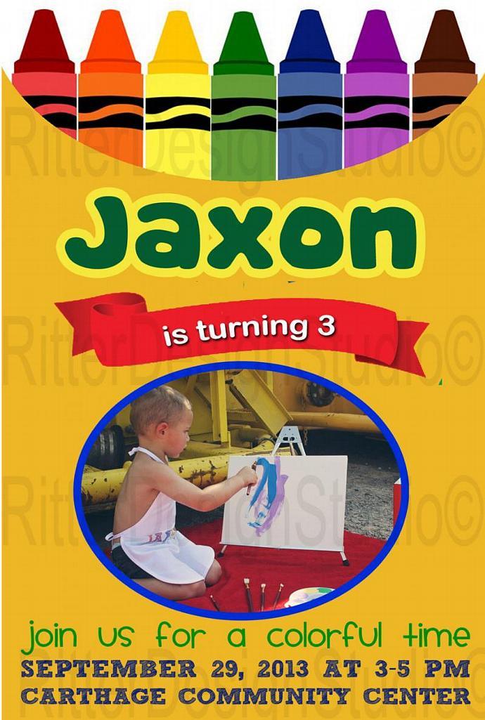 Crayon Crayola Art Birthday RitterDesignStudio