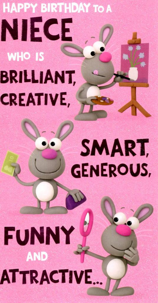 Cute Funny Niece Birthday Greeting Card Cards Love Kates