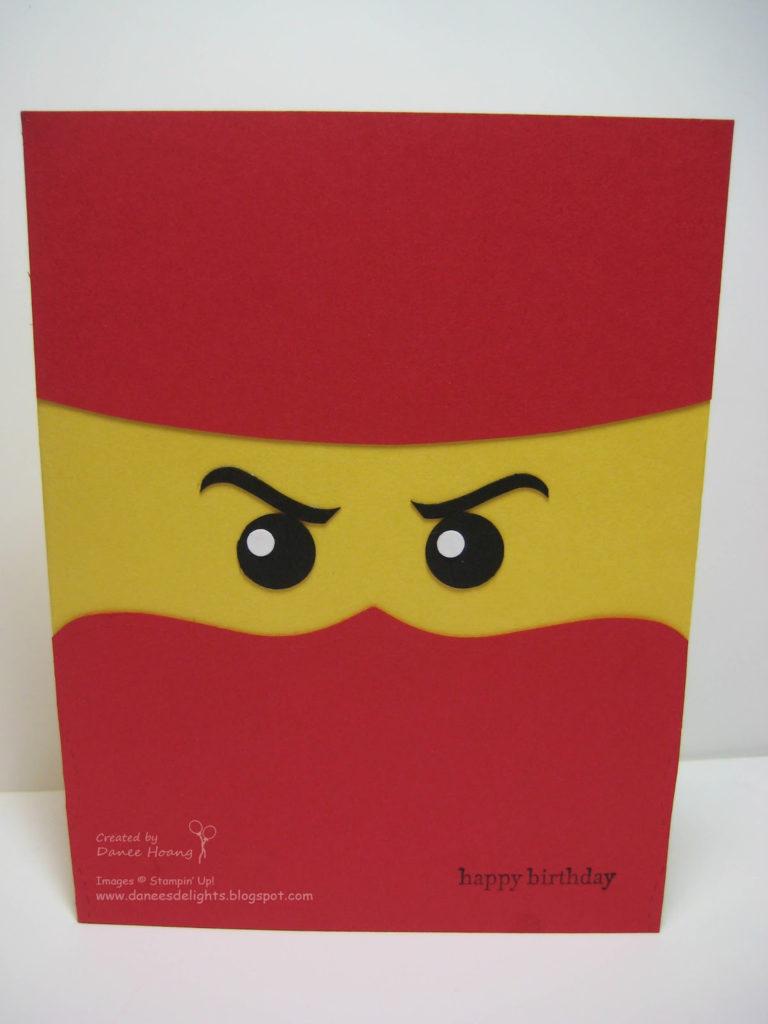 Danee s Stampin Delights Ninjago Birthday Card