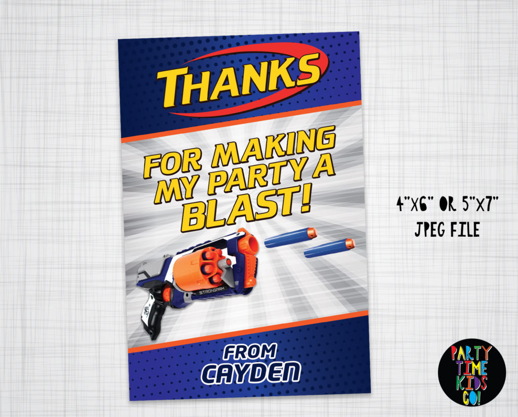 Dart Thank You Card Dart Thanks For Coming Birthday Party Dart