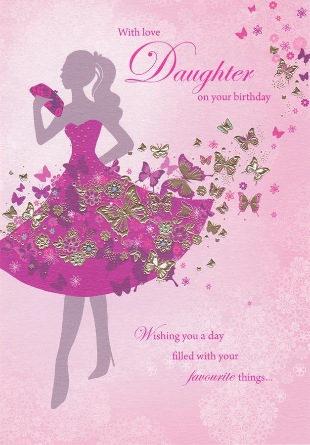 Daughter Birthday Card Silhouette Sara Miller CardSpark